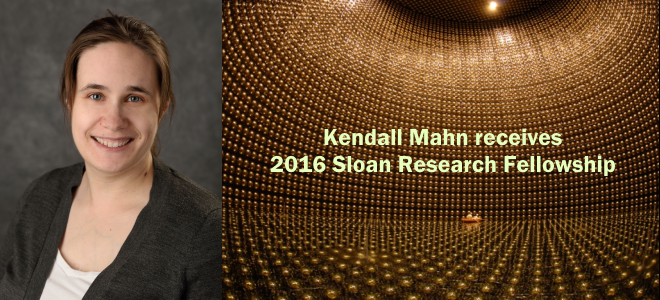 Assistant Professor Kendall Mahn Receives 2016 Sloan Fellowship