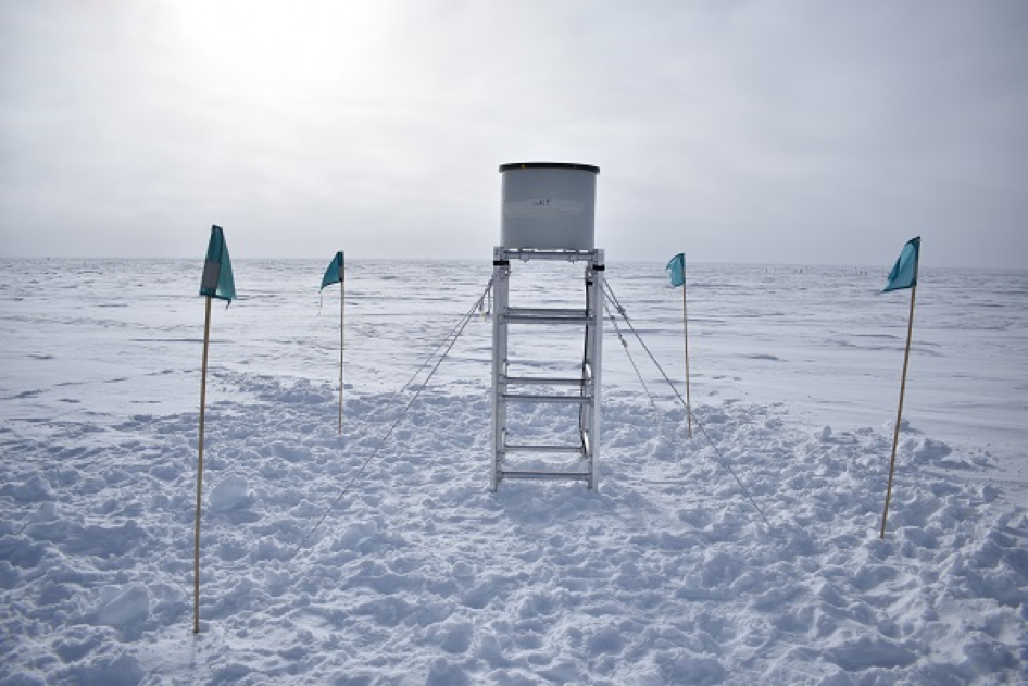 Rysewyk helped install a field-deployable version of IceACT on the surface near the IceCube Laboratory to verify that telescopes could be deployed over the Antarctic winter without being buried by drifting snow.