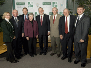 MSU officials meet with NSF Director Arden Bement and MI elected officials